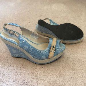 UGG Noella Platform Wedge Slingback Sandal size 8